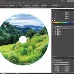 illustratorでCD盤面をデザイン(1)丸く切り抜こう